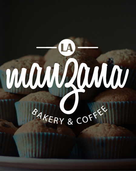 La Manzana pasteleria y cafeteria logo
