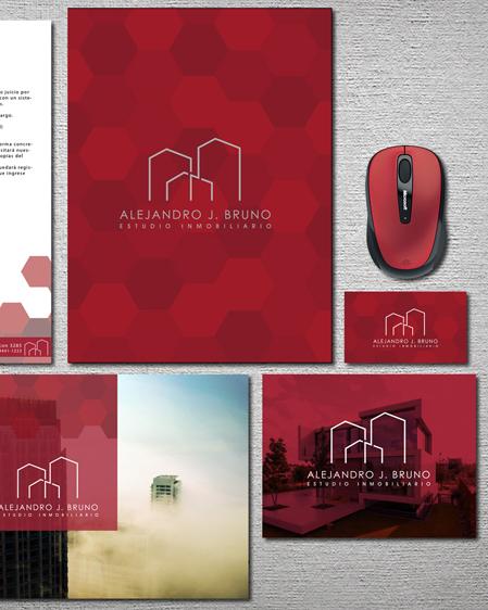 estudio inmobiliario imagen de marca alejandro j bruno, inmobiliaria, san justo, estudio de diseño