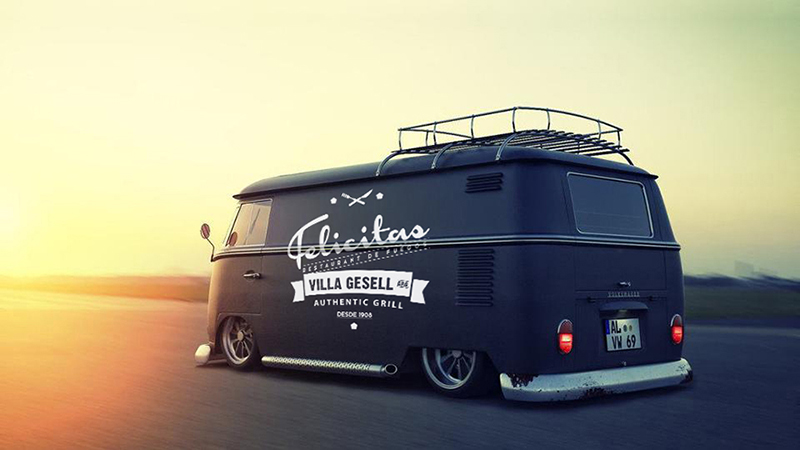 food truck felicitas diseño de marcas, merchandising, ploteo